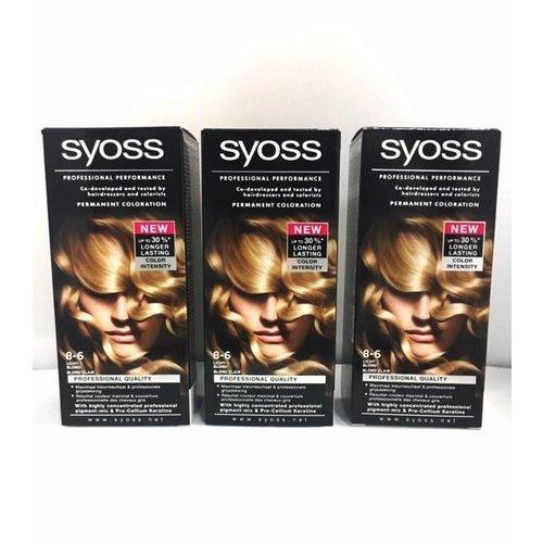 Syoss 3x Syoss Haarverf 8-6 Licht Blond - 3 Stuks