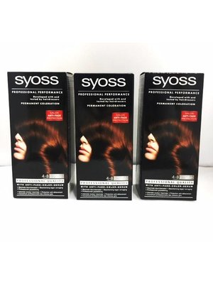 Syoss 3x Syoss Haarverf 4-8 Chocolade Bruin - 3 Stuks