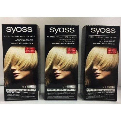 Syoss 3 X Syoss Haarverf 9-5 Frozen Pearl Blond - 3 Stuks