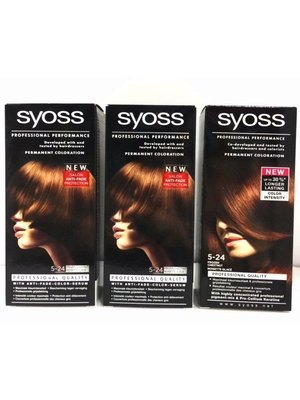 Syoss 3 X Syoss Haarverf 5-24 Frozen Chestnut - 3 Stuks