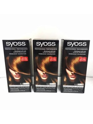Syoss 3 X Syoss Haarverf 6-8 Donkerblond - 3 Stuks