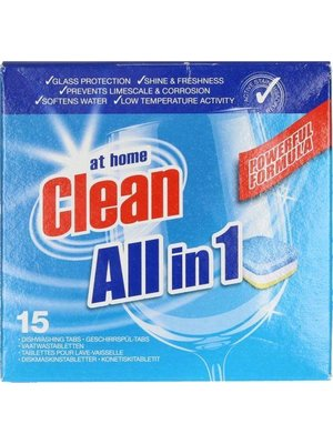 At Home At Home Clean Vaatwas All In 1 - 15 Tabs