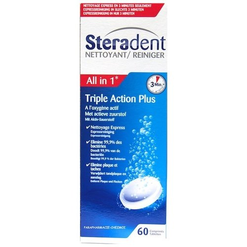 Steradent Steradent Tablet Triple Action - 60 Tabletten