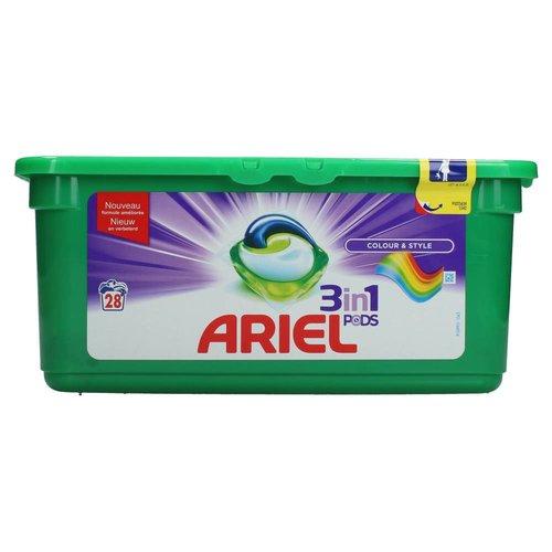 Ariel Ariel Wasmiddel 3 In 1 Pods Colour & Style - 28 Stuks UITVERKOCHT!!!!1