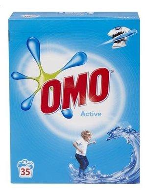 Omo Omo Waspoeder Active Witte Was - 2.45 Kg