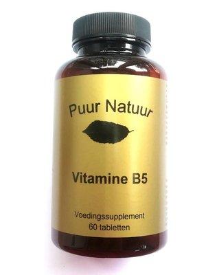 Puur Puur Natuur Vitamine B5 - 60 Tabletten