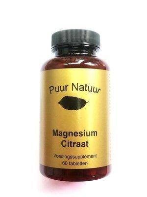 Puur Natuur Puur Natuur Magnesium Citraat - 60 Tabletten