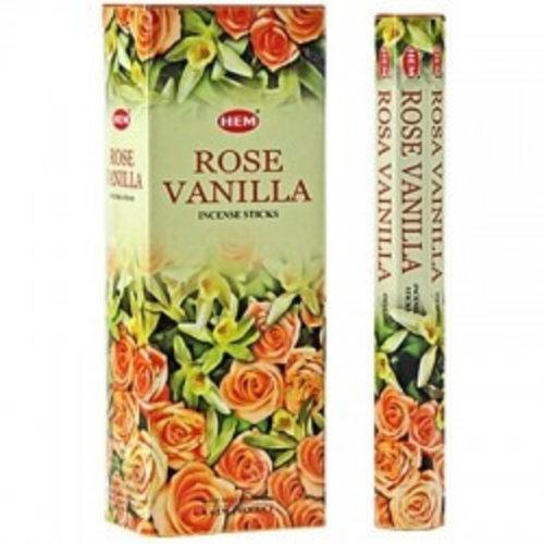 Wierook Wierook Rose Vanilla - 20 Stokjes