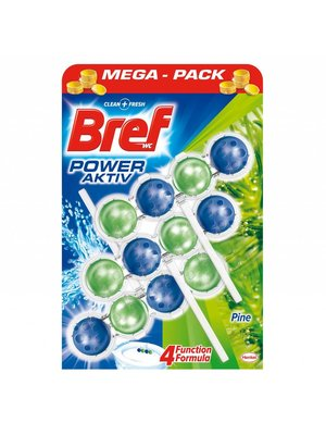 Bref Bref Power Aktive Toiletblok Pine 4 In 1 - 3 Stuks