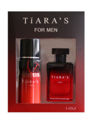Tiara's Tiara's Him For Men Edt Spray 100 Ml & Deodorant Spray 150 Ml - 1 Stuks