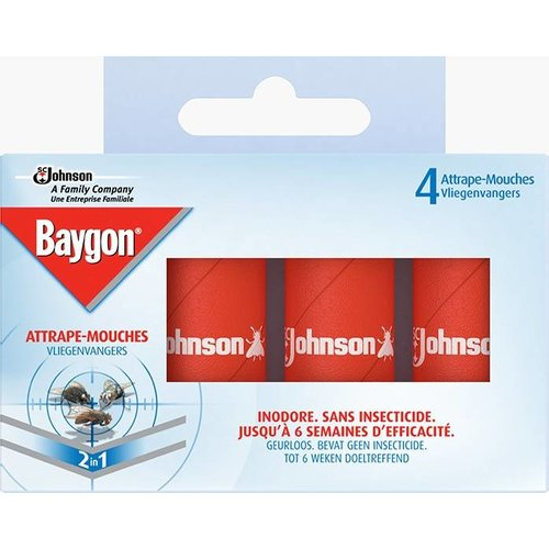 Baygon Baygon Vliegenvangers - 4 Stuks