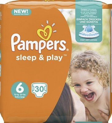 Image of Pampers Pampers Sleep & Play Luiers Nr 6 - 30 Stuks