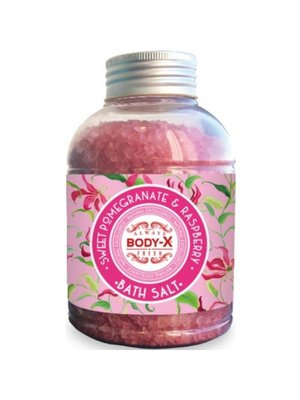 Body-X Body-X Sweet Pomegranate & Raspberry Badzout - 600 Gram
