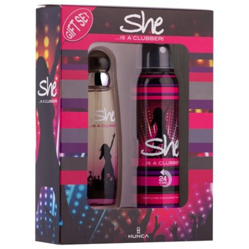 She SHE IS A CLUBBER CADEAUVERPAKKING EDT SPRAY 50 ML & DEO 150 ML - 1 STUKS