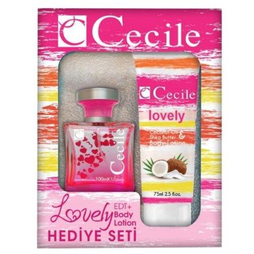 Cecile CECILE WOMEN LOVELY CADEAUSET EDT SPRAY 100 ML & BODYLOTION 75 ML - 1 STUKS