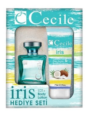 Cecile CECILE WOMEN IRIS CADEAUSET EDT SPRAY 100 ML & BODYLOTION 75 ML - 1 STUKS