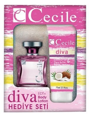 Cecile CECILE WOMEN DIVA CADEAUSET EDT SPRAY 100 ML & BODYLOTION 75 ML - 1 STUKS