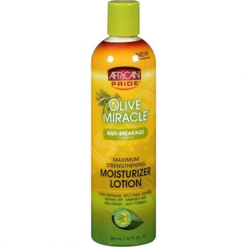 African Pride African Pride Olive Miracle Anti-Breakage Maximum Strengthening Moisturizer Lotion 355 ml