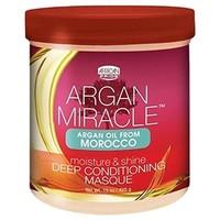 African Pride Argan Miracle Moisture & Shine Deep Conditioning Masque 425 gram,