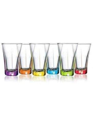 Lav Lav Shot Glass Gekleurd - 6 Stuks