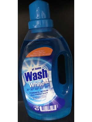 At Home At Home Vloeibaar Wasmiddel White - 1 Liter 28 wasb.