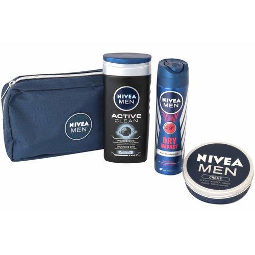 Nivea Nivea cadeauverpakking men showergel- deo-creme- bag