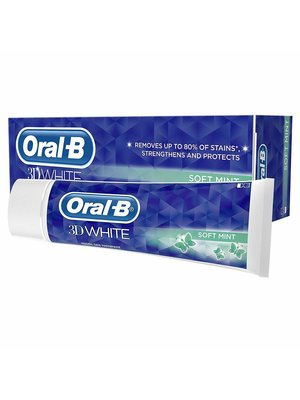 Oral B Oral B Tandpasta 3d white soft mint 75 ml
