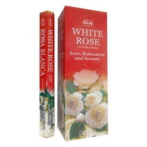 Wierook Wierook white rose 20 stokjes