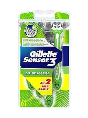 Gillette Gillette Sensor3 sensitive wegwerpmesjes 6 stuks