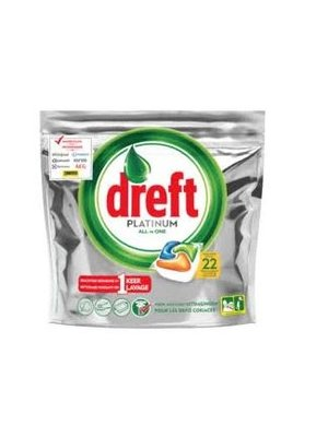 Dreft Dreft Platinum All In One Vaatwastabletten - 22 Stuks
