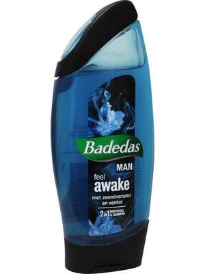 Badedas men douchegel & shampoo feel awake 250 ml