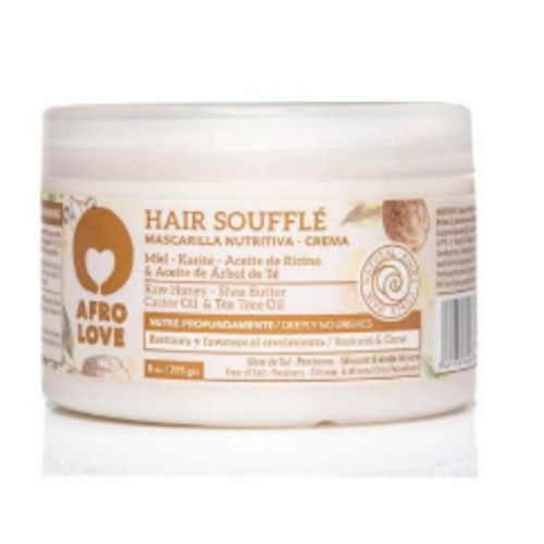 Afro love Afro love hair souffle raw honey/shea butter/castor oil/tea tree oil 450 ml