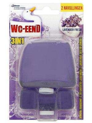 Wc Wc Eend Toiletblok 2 navulling lavendel 2x55ml