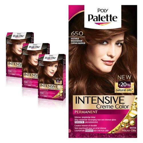 Poly Palette Poly Palette Intensive Creme 650 Kastanje Middenbruin - 1 Stuks