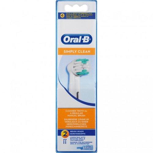 Oral B Oral b opzetborstels simply clean 2 stuks
