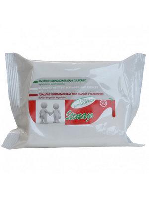 Stenago  hygienische doekjes met alcohol  20 stuks