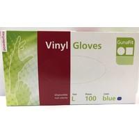 Handschoenen vinyl blauw 100 stuks Maat Xl