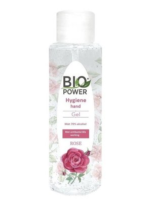 Biopower Biopower hygiene  Handgel - Rozengeur 70% Alcohol 100 ml