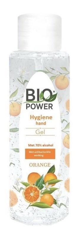 Image of Biopower Biopower hygiene Handgel - Sinasappelgeur 70 % Alcohol 100 ml