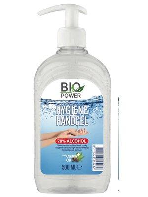 Biopower Biopower handgel 500 ml met pompje 70% alcohol