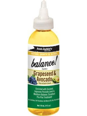Aunt Jackie's Aunt Jackie's Natural Growth Oil Blends Balance Grapeseed & Avocado Oil118ml