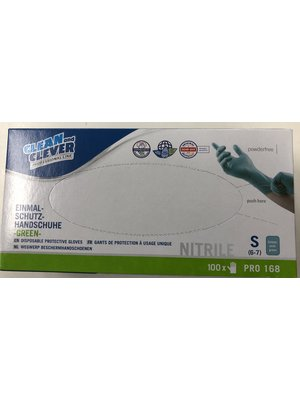 Lifetime Nitrile handschoenen 100 stuks poeder vrij maat S groen