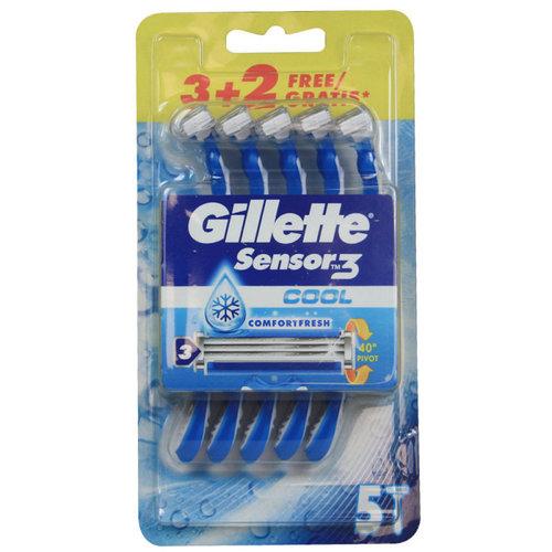 Gillette Gillette Scheermesjes - Sensor 3 Cool 5 Stuks