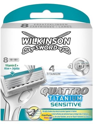 Wilkinson Wilkinson quattro titanium sensitive 8 stuks