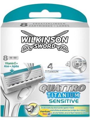 Wilkinson Wilkinson Sword - Quattro Titanium Sensitive 8 Mesjes