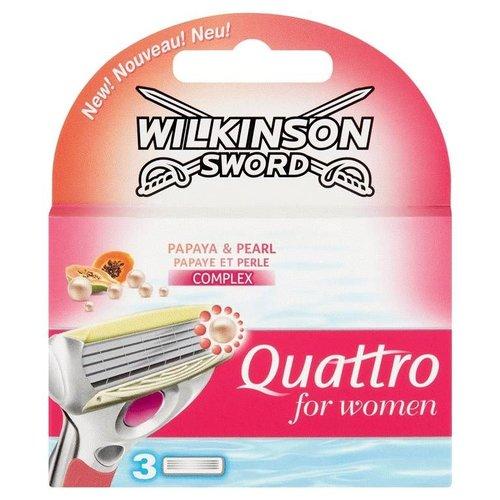 Wilkinson Wilkinson Sword - Quattro For Women 3 Stuks