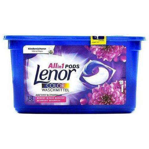 Lenor Lenor Wasmiddel - 3 In 1 Pods Color 38 Stuks