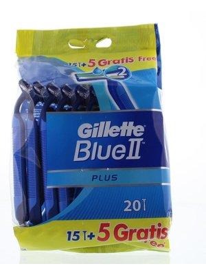 Gillette Wegwerp Scheermes - Blue II 20 stuks