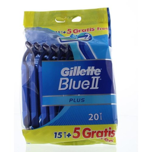 Gillette Blue II - Wegwerp Scheermesjes 20 Stuks