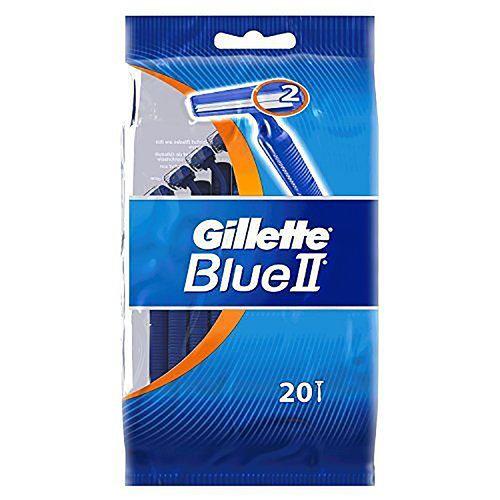 Gillette Blue II Plus - Wegwerp Scheermesjes 20 Stuks